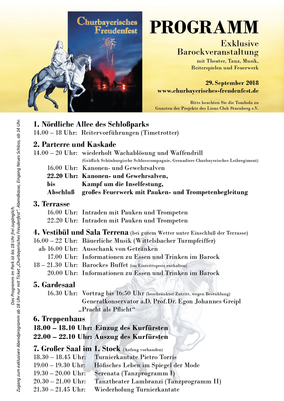 Programm Churbayerisches Freudenfest 2018